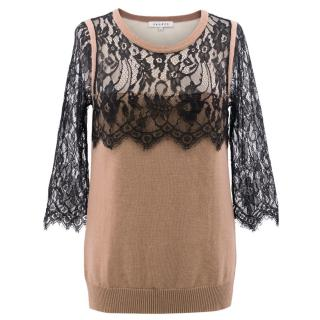 Sandro Lace Embroidered Jumper