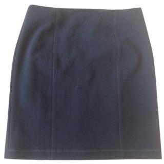 Sonia by Sonia Rykiel Navy Blue Midi Skirt