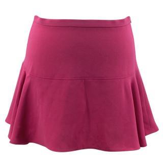 Joseph Danielle Flared Fuchsia Mini Skirt