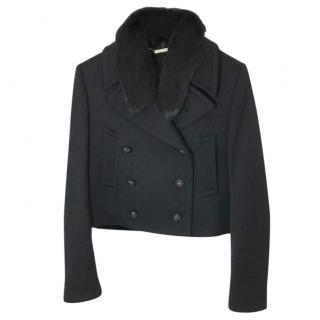 Alexander McQueen 2 In 1 Wool & Mink Jacket