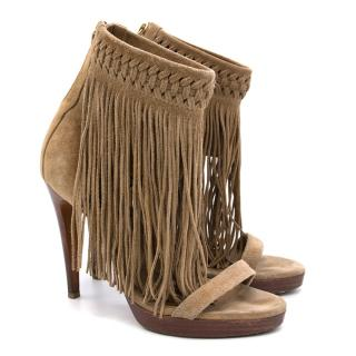 Ralph Lauren Collection Fringed Heels