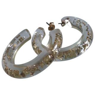 Louis vuitton inclusion hoop earrings