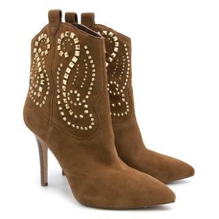 Michael Michael Kors Reena Studded Cowboy Booties