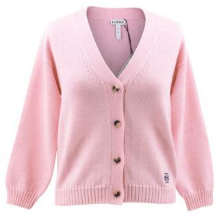 Loewe Pink Wool Cardigan BRAND NEW