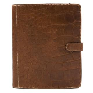 Mulberry Brown Croc Leather Planner
