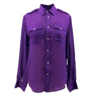 Ralph Lauren Purple Silk Shirt