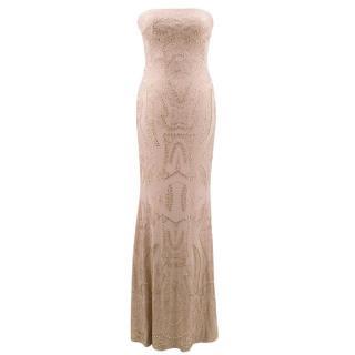 Jovani Nude Embellished Gown