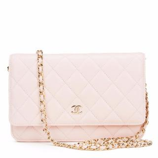 Chanel Pink Lambskin Wallet On Chain bag