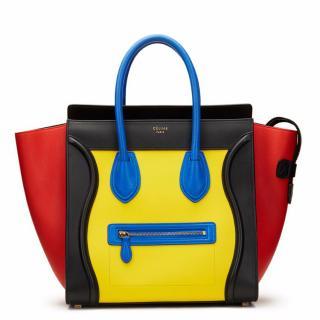 Celine Calfskin Mini Luggage Tote Bag