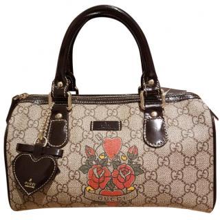 Gucci boston rose applique bag