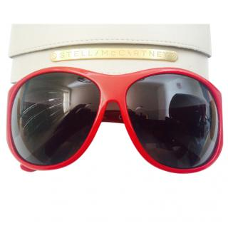 Stella McCartney pillar box red sunglasses