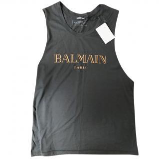 BALMAIN Logo Print Top
