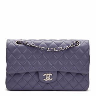 Chanel Lavender Lambskin Medium Double Flap Bag