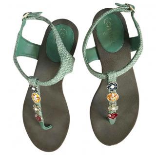 SS17 Chanel cuba tweed sandals