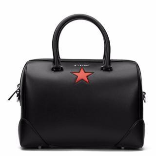 Givenchy Black Calfskin  Medium Lucrezia Star Bag
