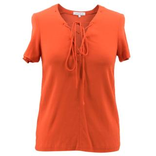 Sandro Orange Laced Top