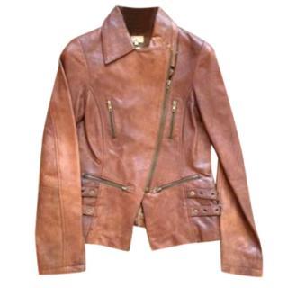 Essential Antwerp brown leather jacket