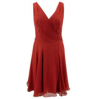 Ralph Lauren Red Chiffon Mini Dress