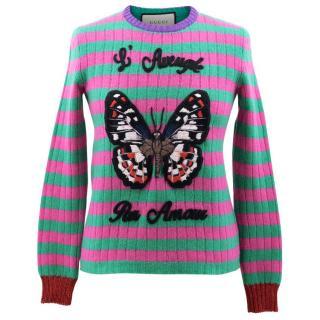 Gucci Stripe Butterfly Jumper