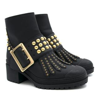 Burberry Black Chunky Studded Ankle Boots