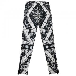 KTZ astrological black and white print legging