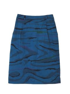 Preen by Thornton Bregazzi camo blue skirt