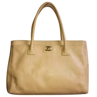 CHANEL Beige Cerf Tote