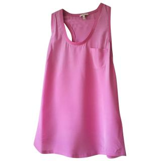 Joie pink silk vest top