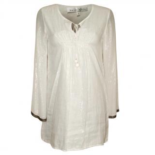 HEIDI KLEIN white tunic top, size 1