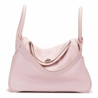 Hermes Rose Dragee Swift Leather Lindy 30 Bag