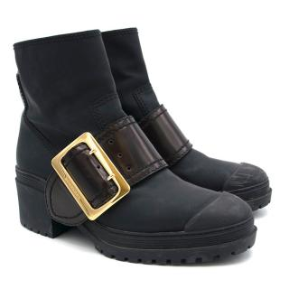 Burberry Rubberised Ankle Boots