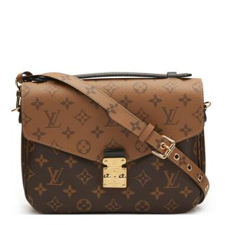 Louis Vuitton Brown Monogram Reverse Coated Canvas Pochette Metis Bag