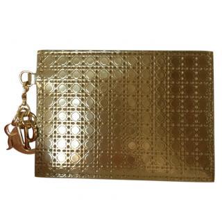 Lady Dior Card Holder in metallic calfskin