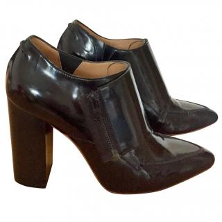 Philip Lim Patent Leather Ankle Boots