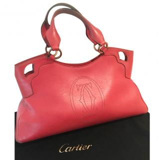 Cartier red leather Marcello bag