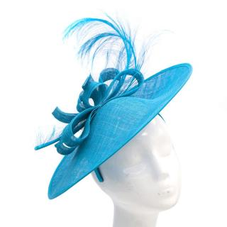 Bespoke Cerulean Feather Fascinator