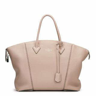 Louis Vuitton Taupe Soft Lockit MM Bag