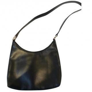 Salvatore ferragamo vintage small, black,  leather handbag