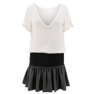 Maje Colour Block Mini Dress