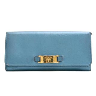 Prada Metallic Blue Purse