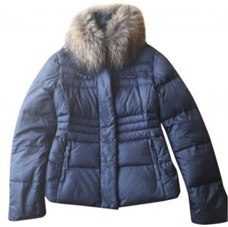 Sportmax Code Artic Jacket with removable fur collar