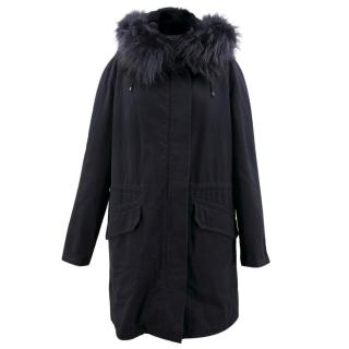 Yves Salomon Army Navy Fur Parka Coat