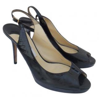 Jimmy Choo black patent sandals