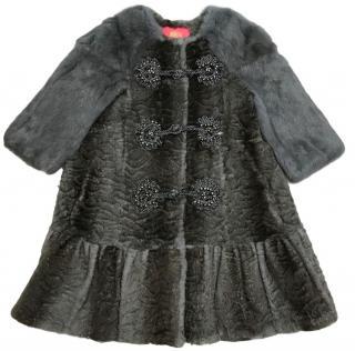 Manoush Rabbit Fur Coat. Size 34 FR