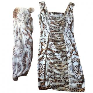 Roberto Cavalli Dress & Matching Scarf