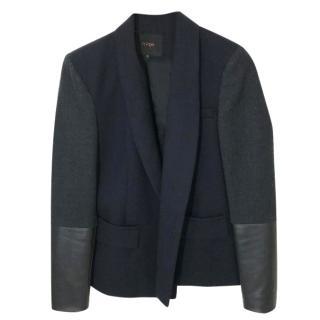 Maje Black Leather Cuffs Jacket
