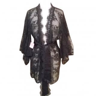 Agent Provocateur Black Lace Kimono
