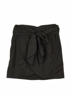 Isabel Marant tie grey wool short skirt