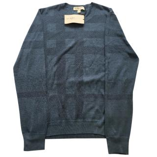 Burberry tonal check silk sweater