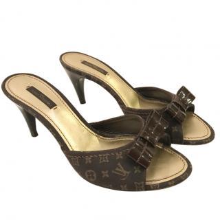 Louis Vuitton brown mules
